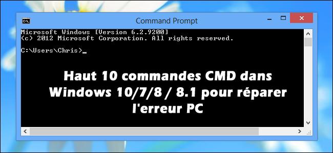 corriger erreurs ordinateur