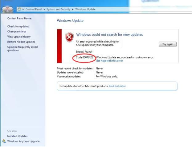 5 astuces rapides pour corriger l'erreur Windows Update code ...